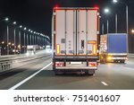 trucks move on a night... | Shutterstock . vector #751401607