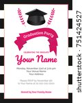 graduation party template... | Shutterstock .eps vector #751424527