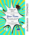 graduation party template... | Shutterstock .eps vector #751424623