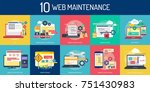 web maintenance | Shutterstock .eps vector #751430983