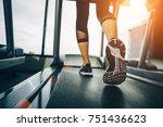 asian woman exercising in the... | Shutterstock . vector #751436623