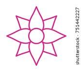 flower vector icon | Shutterstock .eps vector #751442227