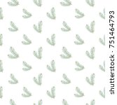 christmas seamless pattern with ... | Shutterstock .eps vector #751464793