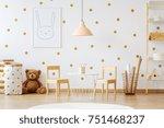 teddy bear between paper bags...   Shutterstock . vector #751468237