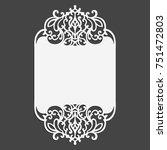 laser cut wedding invitation... | Shutterstock .eps vector #751472803