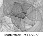 monochrome abstract fractal... | Shutterstock . vector #751479877