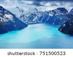 hike to turquoise waters of... | Shutterstock . vector #751500523