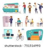 social classes decorative icons ... | Shutterstock .eps vector #751516993