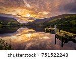 sunrise in snowdonia llynn... | Shutterstock . vector #751522243