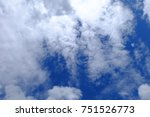 beautiful clouds in the bright... | Shutterstock . vector #751526773