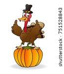 the thanksgiving turkey on... | Shutterstock .eps vector #751528843