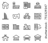 thin line icon set   home ... | Shutterstock .eps vector #751529347