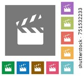 clapperboard flat icons on... | Shutterstock .eps vector #751532233