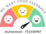 feedback concept design ... | Shutterstock .eps vector #751558987