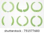 vector laurel wreaths.laurel... | Shutterstock .eps vector #751577683