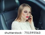 young stylish pretty blondie... | Shutterstock . vector #751595563