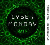 vector poster to cyber monday... | Shutterstock .eps vector #751598587