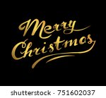 hand drawn brush gold lettering ... | Shutterstock .eps vector #751602037