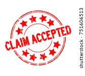 grunge red claim accepted with... | Shutterstock .eps vector #751606513