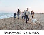 multigenerational family... | Shutterstock . vector #751607827