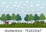 deer hunting concept vector...   Shutterstock .eps vector #751613167