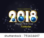 happy new year | Shutterstock .eps vector #751616647