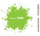 grunge green ink splat with... | Shutterstock .eps vector #75161860