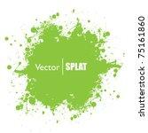 Grunge Green Ink Splat With...