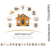 smart house and internet of... | Shutterstock . vector #751618993