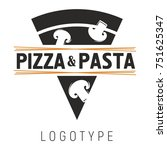 logo for pizzeria and pasta cafe | Shutterstock .eps vector #751625347