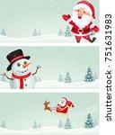 christmas banner with santa... | Shutterstock .eps vector #751631983