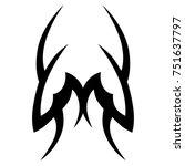 tattoo tribal vector design.... | Shutterstock .eps vector #751637797