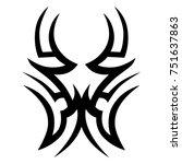 tattoo tribal vector design.... | Shutterstock .eps vector #751637863
