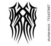 tattoo tribal vector design.... | Shutterstock .eps vector #751637887