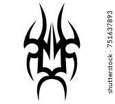 tattoo tribal vector designs.   Shutterstock .eps vector #751637893