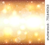 glowing snow circle golden...   Shutterstock .eps vector #751640563