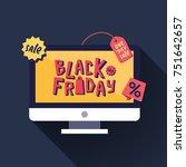 black friday sale banner.... | Shutterstock .eps vector #751642657
