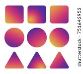 colorful smooth gradient icons  ...