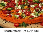 vegetarian pizza with carrots ...