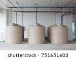 cream water tank on floor of... | Shutterstock . vector #751651603