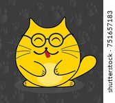 cute cat sketch vector... | Shutterstock .eps vector #751657183