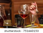 meal drinks concept. detailed... | Shutterstock . vector #751660153