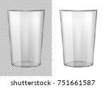 transparent glass vase. | Shutterstock .eps vector #751661587