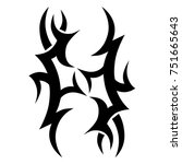 tattoo tribal vector design.... | Shutterstock .eps vector #751665643