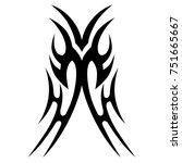 tattoo tribal vector designs.... | Shutterstock .eps vector #751665667