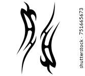 tattoo designs. tattoo tribal... | Shutterstock .eps vector #751665673