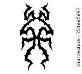tattoo designs. tattoo tribal... | Shutterstock .eps vector #751665697