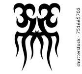 tattoo designs. tattoo tribal... | Shutterstock .eps vector #751665703