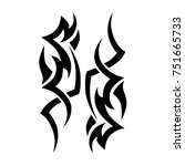 tattoo tribal vector design.... | Shutterstock .eps vector #751665733