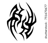 tattoo tribal vector design.... | Shutterstock .eps vector #751670677